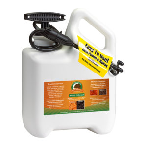 Just Scentsational Black Bark Mulch Colorant in one gallon pump sprayer