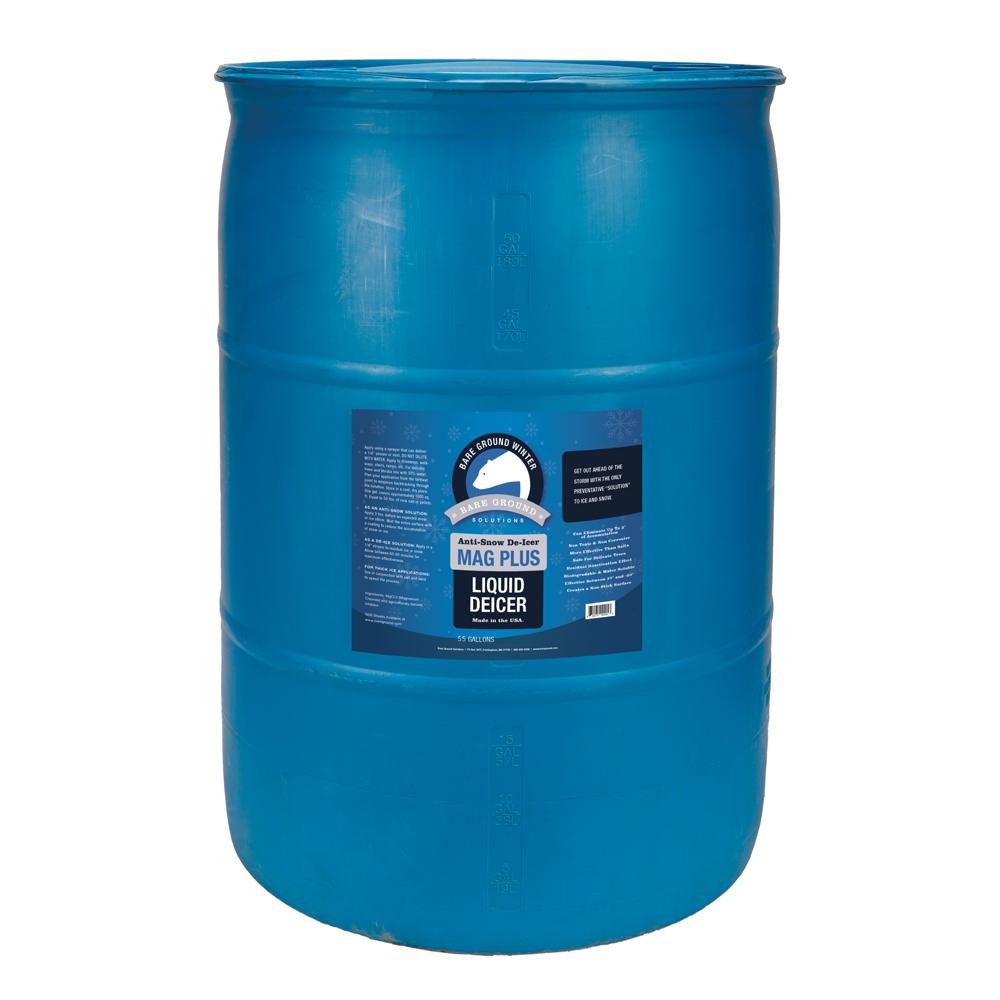 Bare Ground Mag Plus Liquid Deicer - 55 Gallon Drum