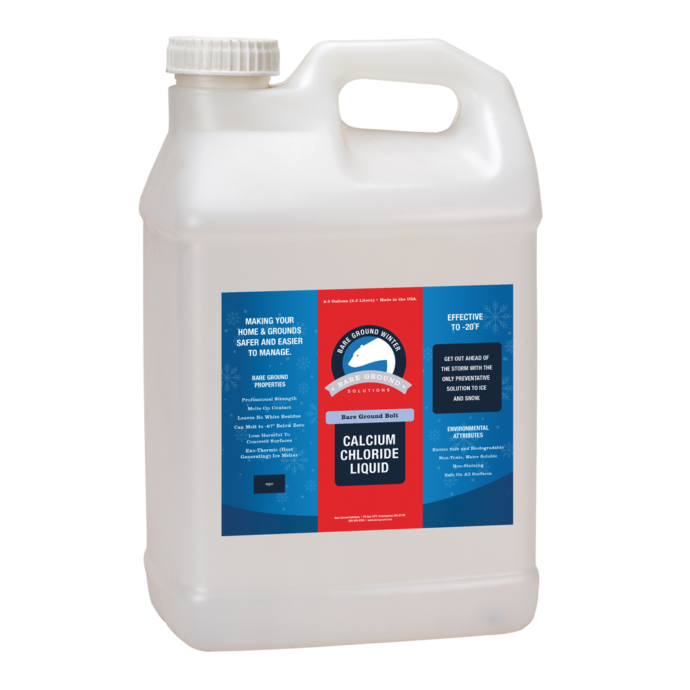 Bare Ground Bolt Liquid Calcium Chloride - 2.5 Gallon