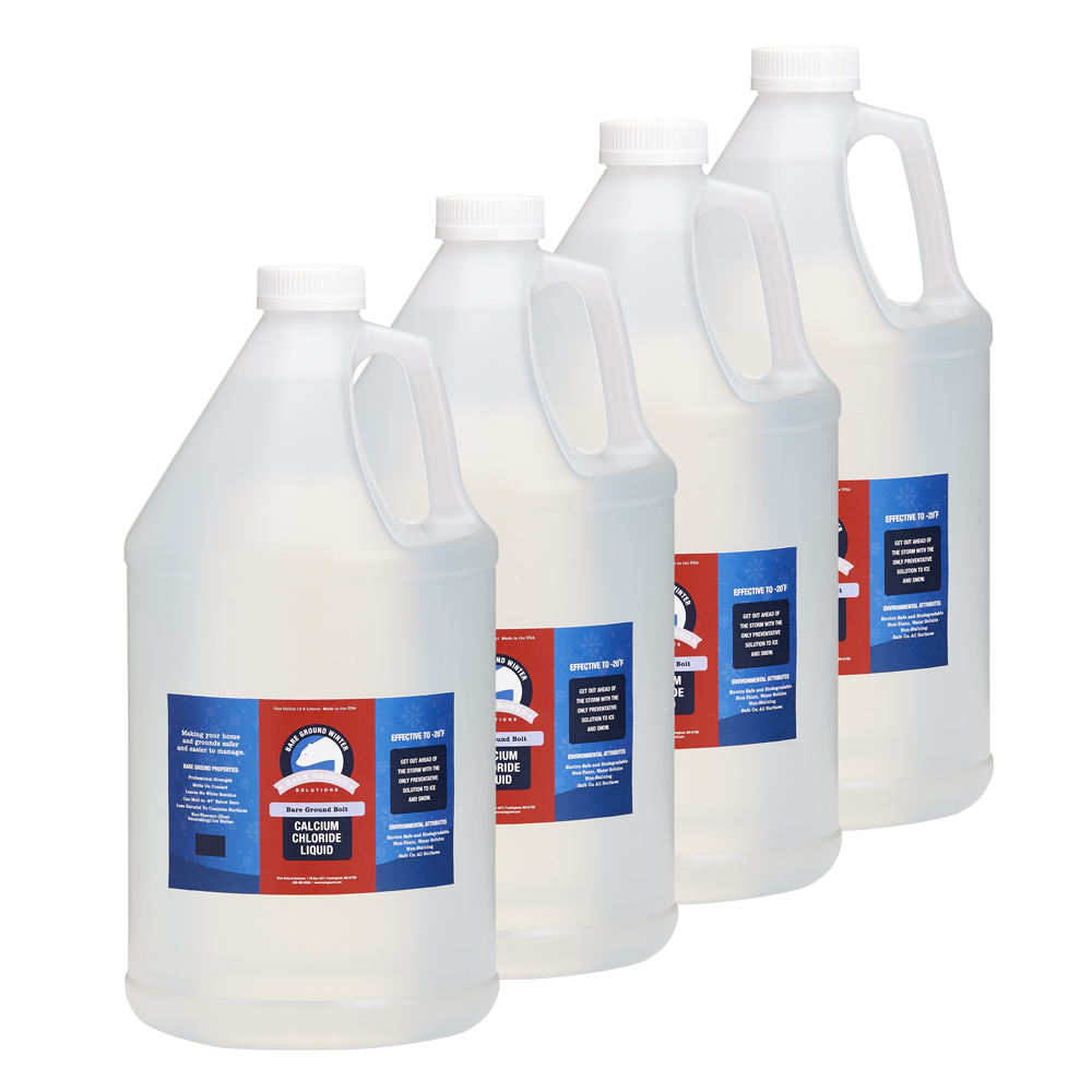 Bare Ground Bolt Liquid Calcium Chloride 4 pack